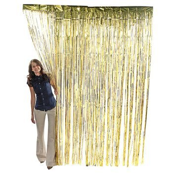 Gold Metallic Foil Fringe Curtain