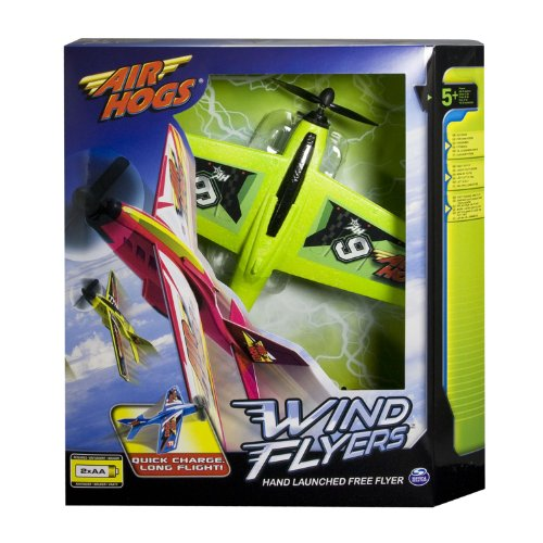 Air Hogs Wind Flyers, Neon Green - 1