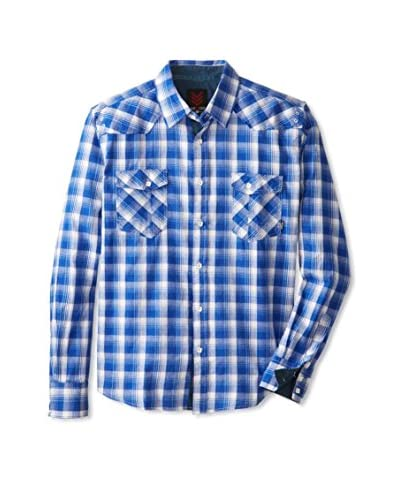 ONE90ONE Men's Benito Double Pocket Plaid Shirt
