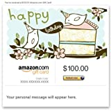 Amazon Gift Card - E-mail - Happy Birthday (Birds)