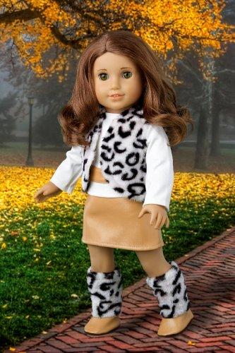 Snow Leopard - Faux fur vest and boots matched
