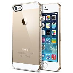 iPhone 5S Case, Spigen® [Ultra Fit] Exact-Fit [Crystal Clear] Slim Case for the iPhone 5S / 5 - Crystal Clear (SGP10608)