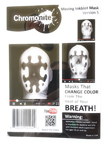 [Moving Inkblot Mask (Heat Activated) (Version 5)] (Rorschach Halloween Costumes)