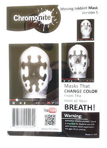 [Moving Inkblot Mask (Heat Activated) (Version 5)] (Rorschach Costume Halloween)