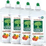L'ARBRE VERT Liquide Vaisselle Main Pamplemousse 750 ml - Lot de 4