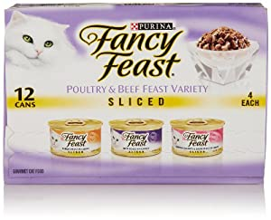 Fancy Feast Sliced Poultry and Beef Feast Gourmet Variety Pack (12 pack, 3 Oz Each)