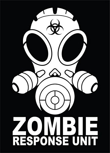 Zombie Response Unit Vinyl Decal Sticker|Cars Trucks Vans Walls Laptops|WHITE|7 In|KCD590 (Zombie Laptop Decal compare prices)