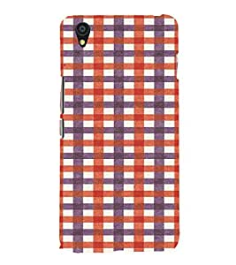 PrintVisa Checks Fabric Pattern 3D Hard Polycarbonate Designer Back Case Cover for One Plus X