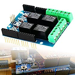 XCSOURCE Four channel Relay Shield 5V 4 Channel 4CH Relay Shield Module for Arduino TE315