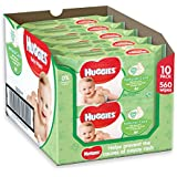 Huggies Natural Care Baby Wipes, 56 Wipes (Pack of 10, Total 560 Wipes)