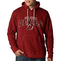 NHL New Jersey Devils Slugger Pullover Hoodie Jacket, Rescue Red by