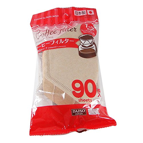 Daiso Coffee Filter Paper 101 [1-2 Person] Brown 90 Pieces X 2 Bags