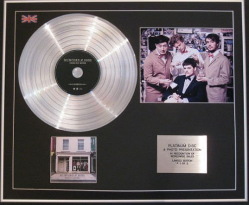 MUMFORD SONS CD & Platinum disco HypT220 SIGH NO MORE