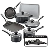 Farberware High Performance Nonstick 17-Piece Cookware Set, Black