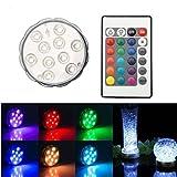 TKOOFN RGB 10 LEDs Unterwasser Strahler...