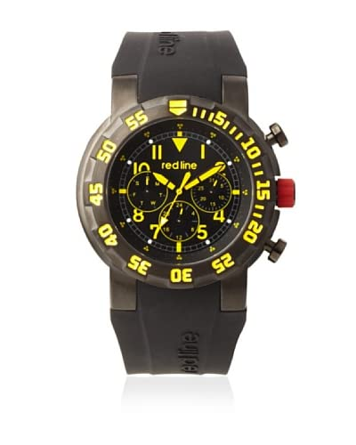 red line Men's 50027-BB-01YL RPM Black & Yellow Silicone Watch