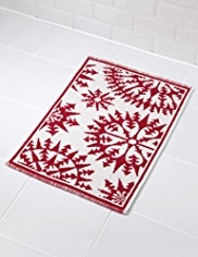 Snowflake Design Bath Mat