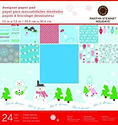 Martha Stewart Crafts Winter Paper Pad, 24 Sheets, 12 by 12 inches