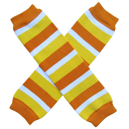 Halloween Costume Spooky Styles Holiday Leg Warmers - One Size - Baby, Toddler, Girl (Candy Corn Stripe) (Candy Corn Leggings compare prices)