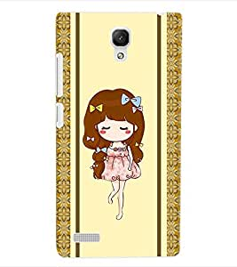 ColourCraft Girly Back Case Cover for XIAOMI REDMI NOTE