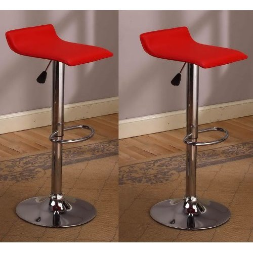 Cumar Chrome Air Lift Adjustable Swivel Stools With Sleek