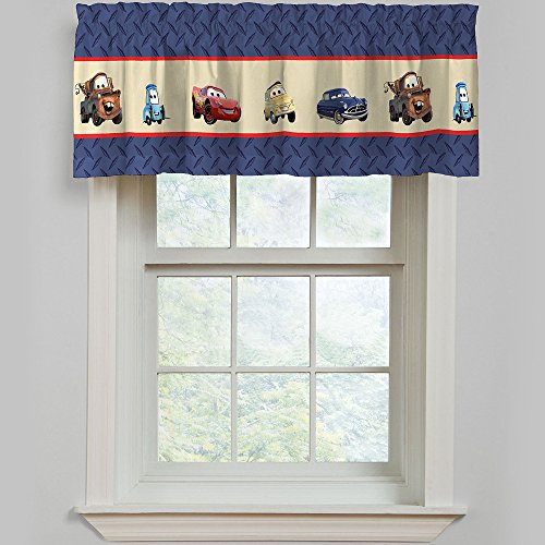 Disney Pixar Cars Line Up One Pole Top Valance - 1