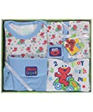 "Sesame Beginnings Baby Boys' ""Elmo 123"" 6-Piece Gift Set - blue, 0 - 6 months"