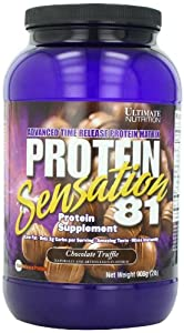 Ultimate Nutrition Protein Sensation 81 Protein Supplement, Chocolate Truffle, 32-Ounce Tub