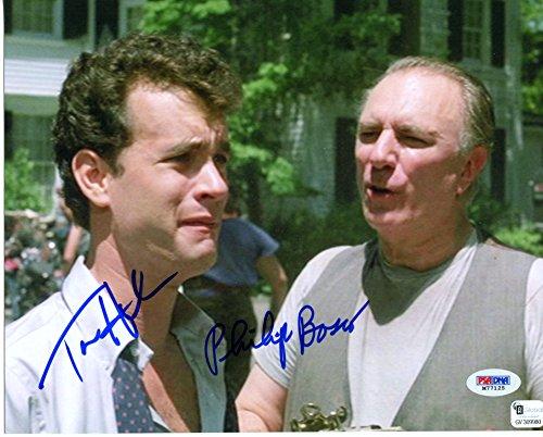 Tom Hanks & Philip Bosco Rare Dual Signed 8X10 The Money Pit Color Photograph Psa/Dna & Gai Authentic 2X Auto Photo 1986 Richard Benjamin Movie