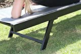 Vivere Aluminum Urban Sun Lounger, Black Chrome