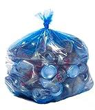 Blue Recycling Bags, 40 Gallon,23x10x46, 1.2 Mil, 100/Case