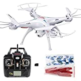 Xiaomax-Syma-X5C-1-Upgraded-Version-Quadcopter-24GHz-6-Axis-Remote-Control-Helicopter-Explorers-Drone-with-HD-Camera-with-4GB-Micro-SD-CardWhite