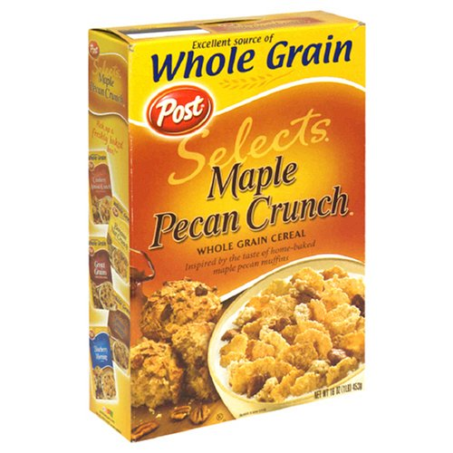 Buy Post Maple Pecan Crunch Cereal, 16 Ounce Box (Pack of 4) (Post, Health & Personal Care, Products, Food & Snacks, Breakfast Foods, Cereals)
