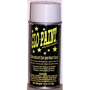 GLO-PAINT,Fluorescent Glo Yellow Color, Glow in the Dark 4oz. Aerosol Can, Spray Paint
