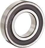 SKF Light 6200 Series Deep Groove Ball Bearing, ABEC 1 Precision, Double Sealed, Steel Cage, C3 Clearance