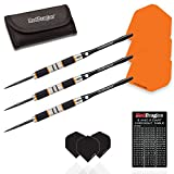Red Dragon Amberjack 2: 21g - 90% Tungsten Darts (Steel Dartpfeile) mit Flights, Schäfte, Brieftasche & Red Dragon Checkout Card