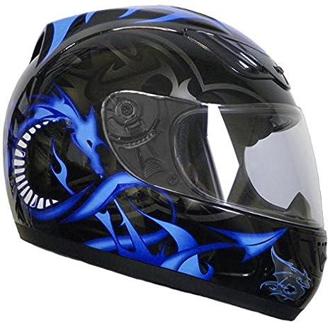 Rallox Helmets - Casque De Moto Intégraux Bleu Noir Rallox 510 ( Xs S M L Xl ) Taille L
