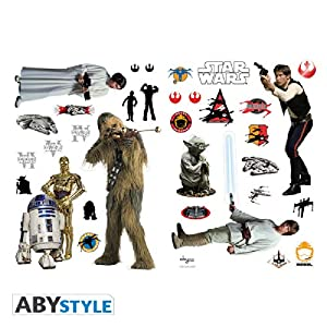ABYstyle - ABYDCO029 - Loisir Créatif - Star Wars - Planche de stickers muraux Rebels