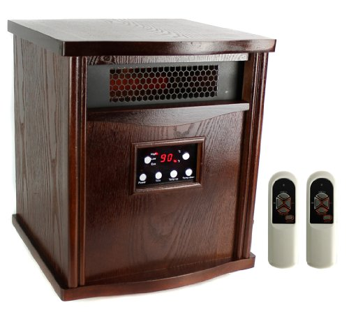 New LifeSmart LS-1000HH13 2000 Sq Ft Infrared Quartz Electric Portable Heater