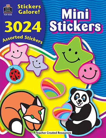Mini Stickers Sticker Book 3024Pk -- Case of 3