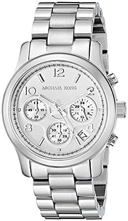 Michael Kors Women's MK5076 Runway Analog Display Analog Quartz Silver Watch