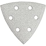 Bosch SDTW082 Detail Triangle, Hook and Loop Sanding Sheet, 80 Grit, 25-Pack (White)
