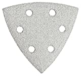 Bosch SDTW082 Detail Triangle, Hook & Loop Sanding Sheet, White, 80 Grit, 25 Pack