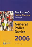 Blackstone's Police Manuals : Four-volume Set