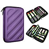 BUBM Electronics Accessories Organizer Travel Carrying Case Digital Storage Bag X Series L Gold Purple(L) L