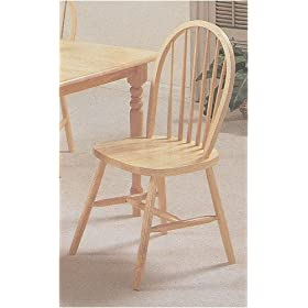 Minimalist Furniture of Natural Finish Arrow Back Farm House Wood Dining Chair