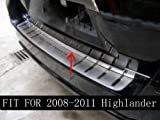 Chrome Rear Trunk Lid Cover Trim for TOYOTA HIGHLANDER 2009 2010 2011 2012 2013
