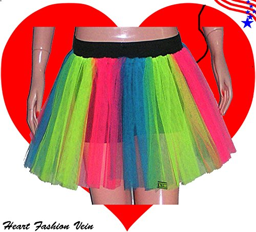 Plus Size Multi Length 15 Two Layer Three Tone Stripe Tutu Skirt