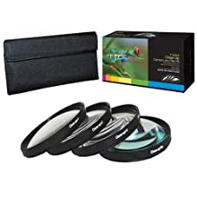 PLR Optics +1 +2 +4 +10 Close-Up Macro Filter Set With Pouch For The Nikon D5000 D3000 D3200 D5100 D3100 D7000...