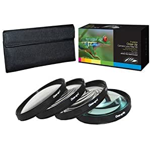 PLR Optics 3PCLENS-63 52mm +1 +2 +4 +10 Close-Up Macro Filter Set with Pouch